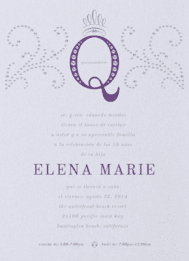 Quinceañera Queen Wedding Invitation