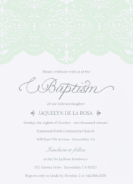 Keeping the Lace Wedding Invitation
