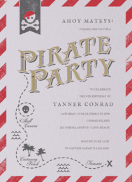 Pirate Party Wedding Invitation
