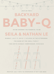 Baby Q Wedding Invitation