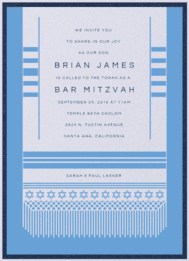 Tallit Joy Wedding Invitation