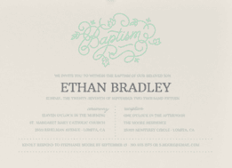 Ornately Beloved Wedding Invitation