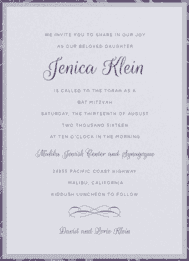 Young and Elegant Wedding Invitation
