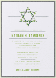 Star of Stained Glass Wedding Invitation