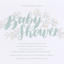 Blooming Baby Wedding Invitation