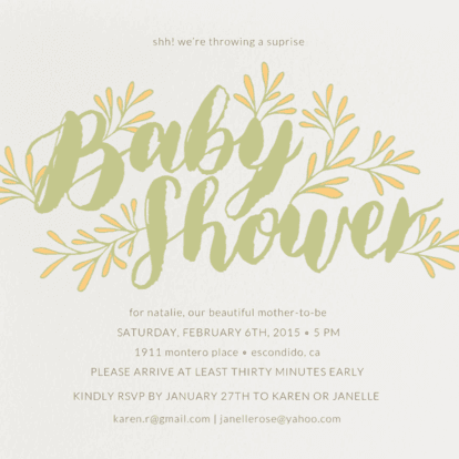 Blooming Baby Baby Shower