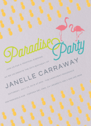 Pineapple Paradise Wedding Invitation