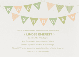 Bunting Banner Wedding Invitation