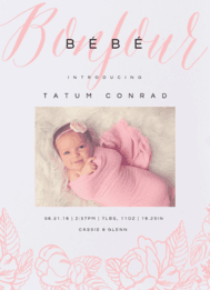 Bonjour Bebe Wedding Invitation