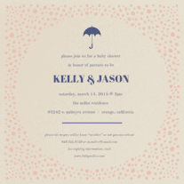 Showered with Love Wedding Invitation