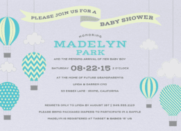 Up, Up and Away Wedding Invitation
