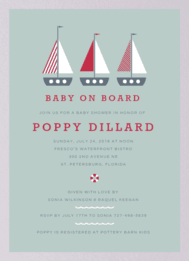 Baby On Board Wedding Invitation