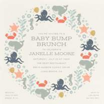 Sea Tangle Wedding Invitation