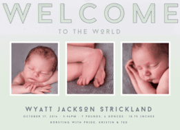 Welcome to the World Wedding Invitation