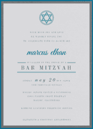 Epic Mitzvah Wedding Invitation
