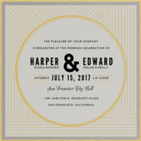 Linear Love Wedding Invitation