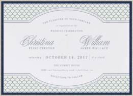 Ornate Lattice Wedding Invitation