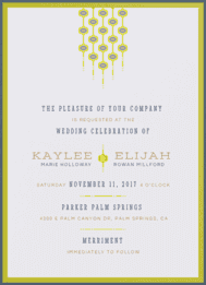 Mid-Century Matrimony Wedding Invitation