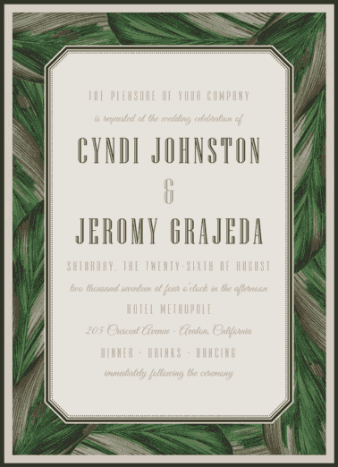 Eclectic Cabana Wedding Invitation