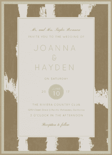 Love's Masterpiece Wedding Invitation