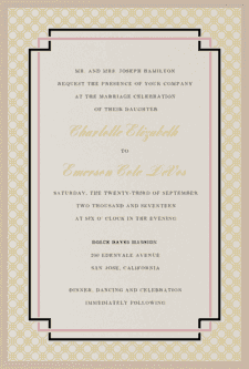 Interlinked Wedding Invitation