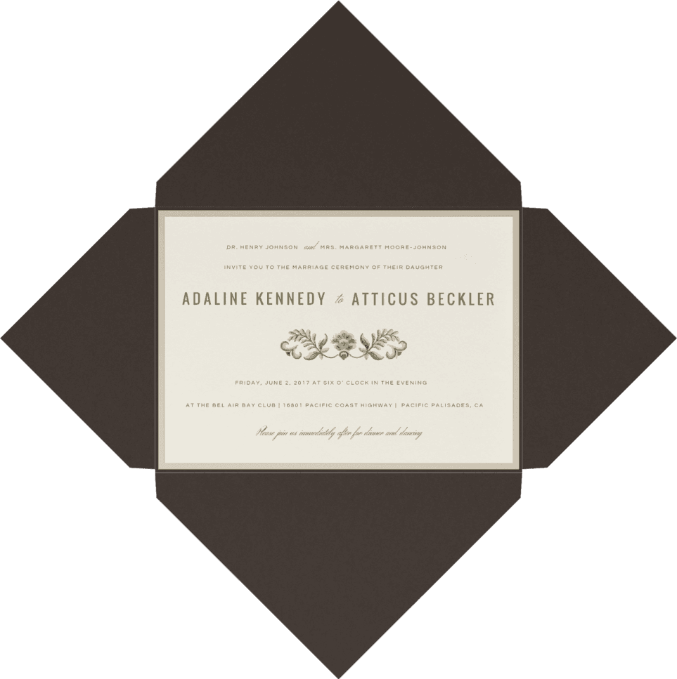 Porcelain Petals Wedding Invitation