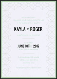 Geometric Trellis Wedding Invitation