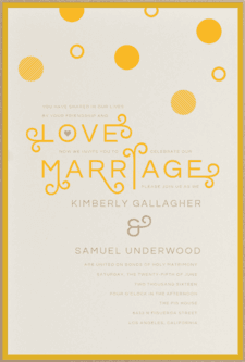Charming Dots Wedding Invitation