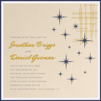 Star Dust Wedding Invitation