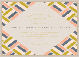 Painted Parquet Wedding Invitation