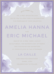 Water Lilies Wedding Invitation