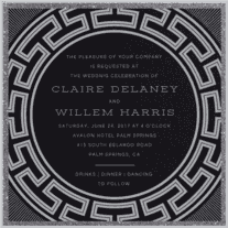 Timeless Luxe Wedding Invitation
