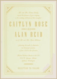 Roaring Ritz Wedding Invitation