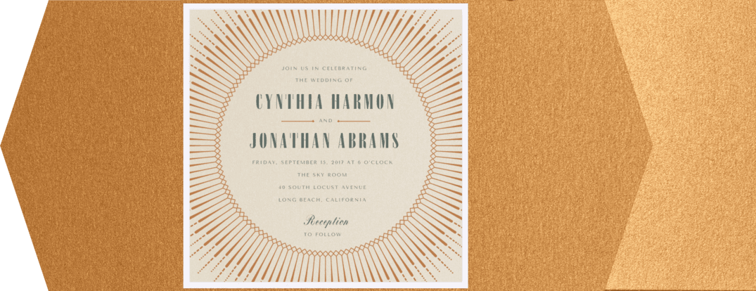 Fringe & Flair Wedding Invitation