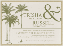 Resort Romance Wedding Invitation