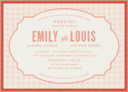 Woven Together Wedding Invitation
