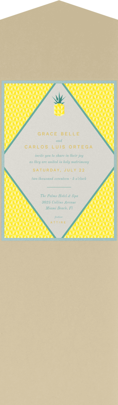 Geo Pineapple  Wedding Invitation