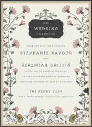 Nouveau Garden Wedding Invitation