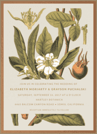 Botanical Illustration Wedding Invitation