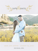 Wildflower Save the Date Wedding Invitation