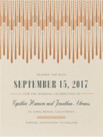 Fringe & Flair Save the Date  Wedding Invitation