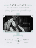 Decadent Deco Save the Date Wedding Invitation