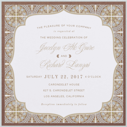 Palatial Tiles Wedding Invitation