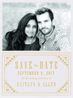 Roaring Ritz Save the Date Wedding Invitation