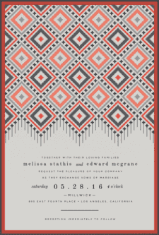 Boho Tapestry Wedding Invitation