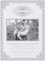 Timeless Luxe Save the Date Wedding Invitation