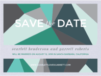 Faceted Gem Save the Date Wedding Invitation