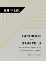 Linear Love Save the Date Wedding Invitation