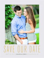 Botanical Bliss Save the Date Wedding Invitation