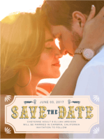 Love Letters Save the Date Wedding Invitation